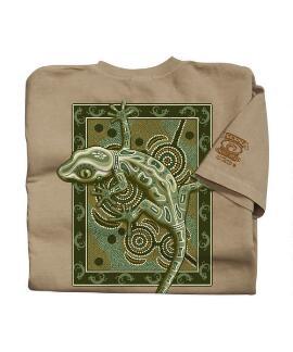 Short-Sleeve Gecko Mosaic Kona Coffee Crew T-shirt
