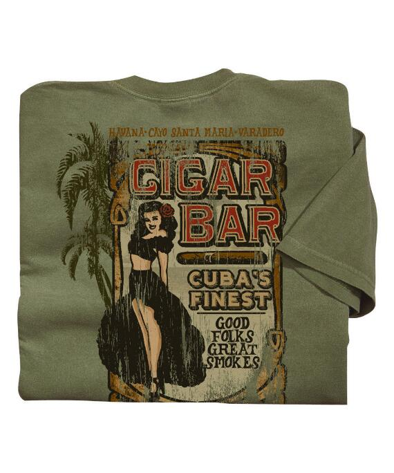 Short-Sleeve Cigar Bar Hemp Crew T-shirt
