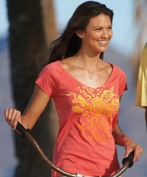Short-Sleeve Sun Brand Salmon Pima Shirt