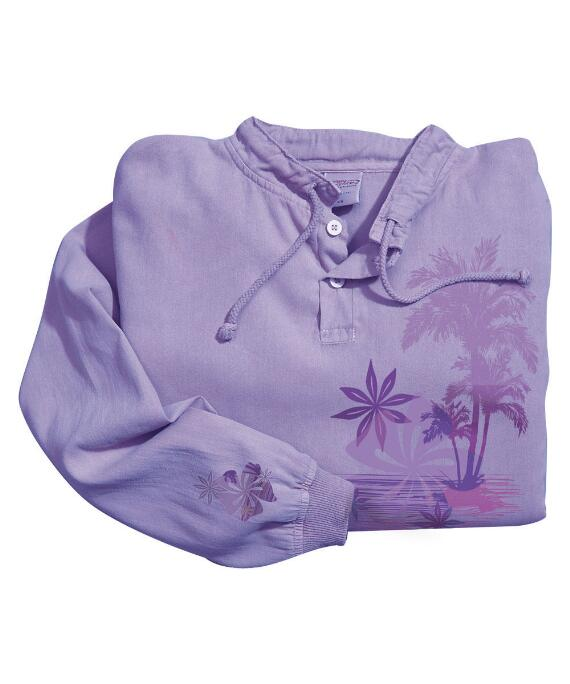Long-Sleeve Stella Lavender Lightweight Pullover