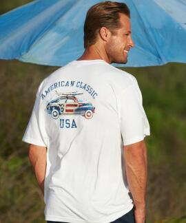 Short-Sleeve American Classic White Crew