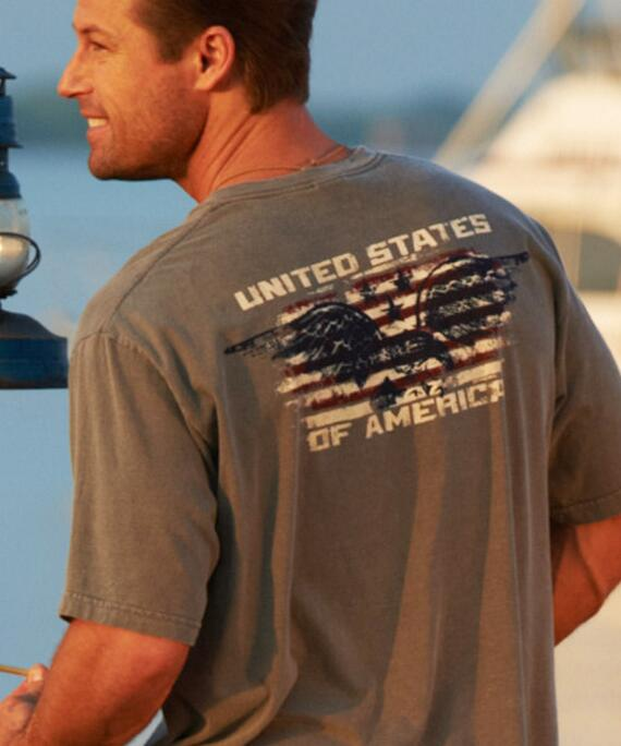 Short-Sleeve Old Glory Crater Crew T-shirt