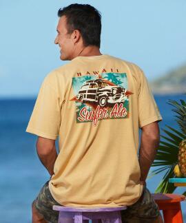 Short-Sleeve Surfer Ale Woody Pale Ale Crew T-shirt