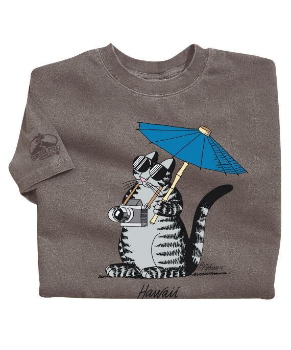 Short-Sleeve Tourist Cat Crater Crew T-shirt
