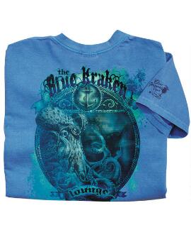 Short-Sleeve Blue Kraken Blue Hawaii Crew T-shirt