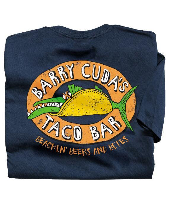 Short-Sleeve Barry Cudas Navy Crew
