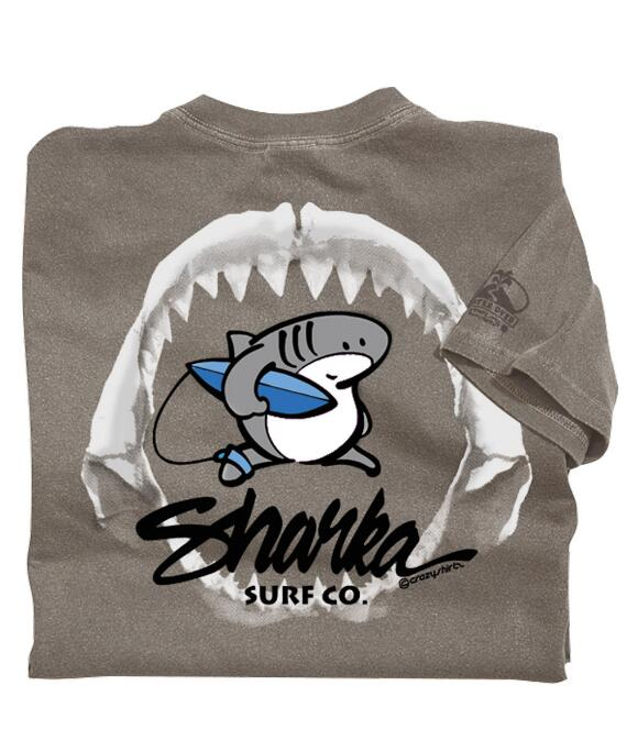 Short-Sleeve Sharka Jaws Crater Crew T-shirt