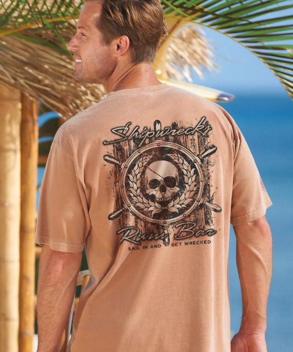 Short-Sleeve Shipwrecks Rum Bar Rum Crew T-shirt
