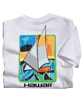 Short-Sleeve Art Sail White Crew