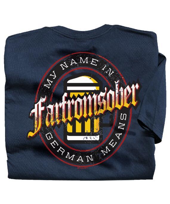 Short-Sleeve Farfromsober Navy Crew