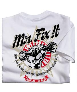 Short-Sleeve Aka Mr Fix It White Crew