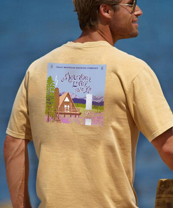 Short-Sleeve Crazy Mountain Brewing Co. Mountain Living Pale Ale Crew T-shirt