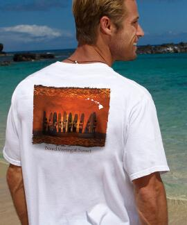 Short-Sleeve Board Meeting At Sunset White Crew