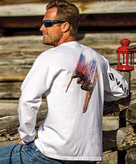 Long-Sleeve Vr Technicolor Skier White Classic Crew