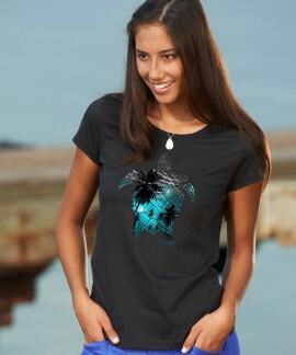 Short-Sleeve Turtle Lights Jet Black Pima Shirt