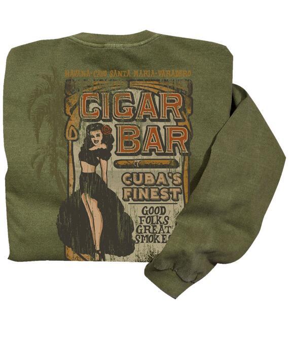 Long-Sleeve Cigar Bar Hemp Classic Crew