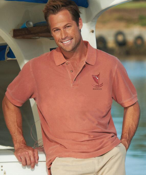 Short-Sleeve Outrigger Hi Chile Pique' Polo Shirt