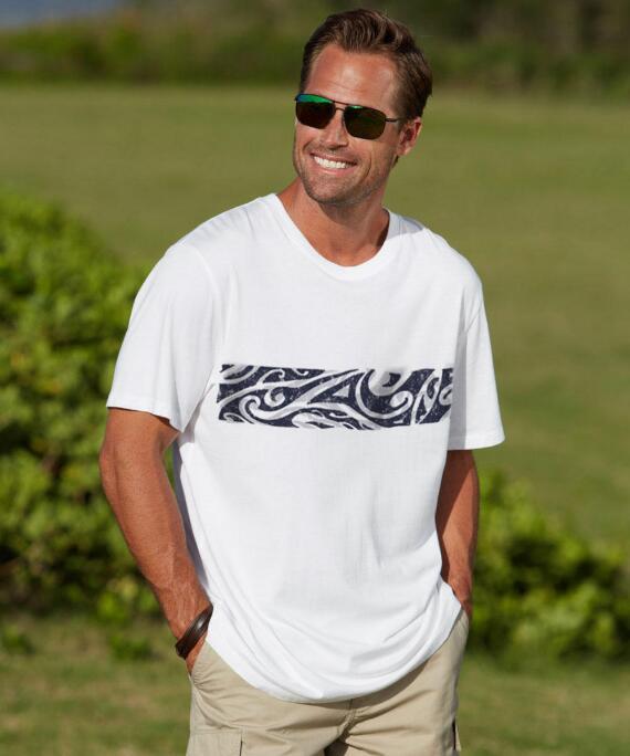 Short-Sleeve Tamanui White Pima Shirt