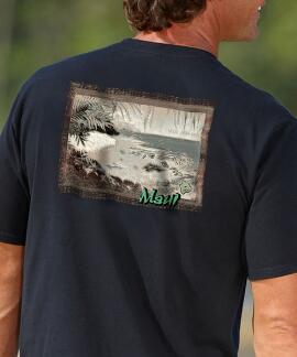 Short-Sleeve Beautiful Maui Postal Black Crew