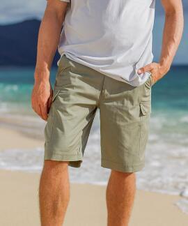 Army Green Twill Cargo Shorts