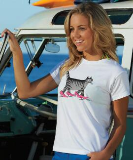 Short-Sleeve Pussycat White Mini T-shirt