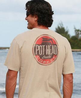 Short-Sleeve Pot Head Kona Coffee Crew T-shirt