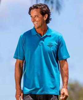 Short-Sleeve Kava Kava Ray Pacific Pipeline Pima Polo