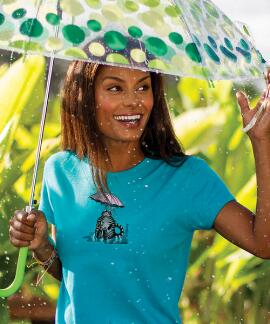 Short-Sleeve Umbrella Cat Ocean Breeze Mini T-shirt