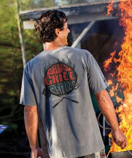 Short-Sleeve Grill And Chill Crater Crew T-shirt