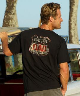 Short-Sleeve Road Trip Dad Black Crew