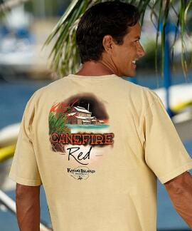 Short-Sleeve Kauai Island Brewing Co. Canefire Red Pale Ale Crew T-shirt