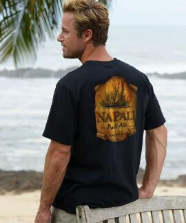 Short-Sleeve Kauai Island Brewing Co. Napali Pale Ale Black Crew