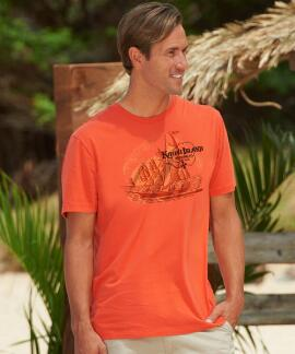 Short-Sleeve Kauai Island Brewing Co. Kauai Island Burnt Orange Pima Shirt