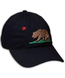 California Flag Black Twill Hat