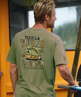 Short-Sleeve Tijuana Iguna Hemp Crew T-shirt