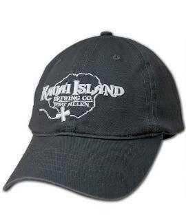 Kauai Island Brewing Co. Logo Charcoal Twill Hat