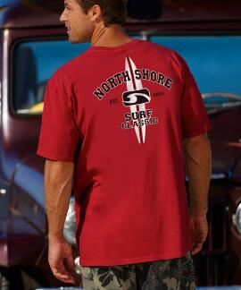 Short-Sleeve New NS Surf Classic-year Crimson Red Crew