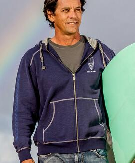 Long-Sleeve Nalu Boards Indigo Point Break Hoodie