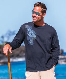 Long-Sleeve Kavani Navy Classic Crew