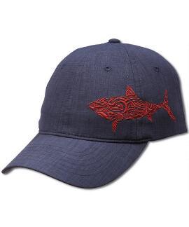 Red Shark Navy Hat