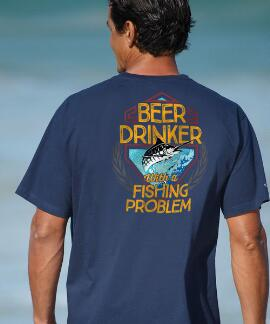 Short-Sleeve Beer Drinker Navy Crew