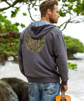 Long-Sleeve Tribal Turtle Raven Point Break Hoodie