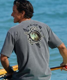 Short-Sleeve Tribal Island Honu Crater Crew T-shirt