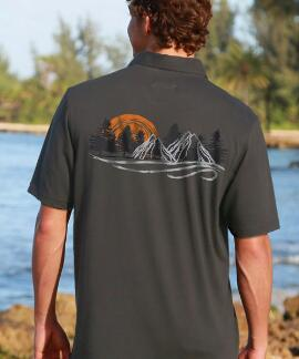 Short-Sleeve Rocky Mountains Smoke Pima Polo