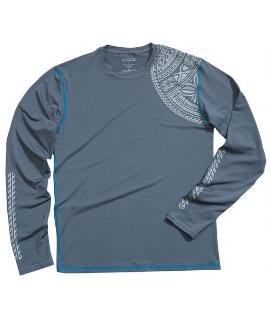Long-Sleeve Keola Storm Men's Swim Shirt