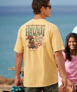 Short-Sleeve Hawaii Beer Run Pale Ale Crew T-shirt