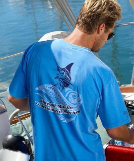Short-Sleeve Hawaii Marlin Blue Hawaii Crew T-shirt