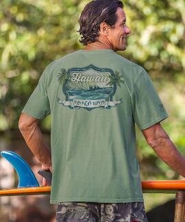 Short-Sleeve Na Koa Wa'a Ti Leaf Crew T-shirt