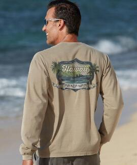Long-Sleeve Na Koa Wa'a Kona Coffee Classic Crew