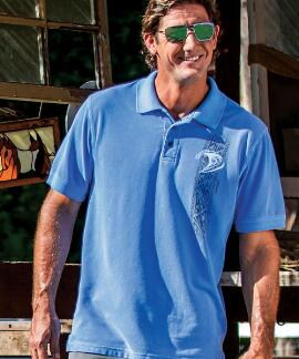 Short-Sleeve Malolo Ekahi Blue Hawaii Pique' Polo Shirt